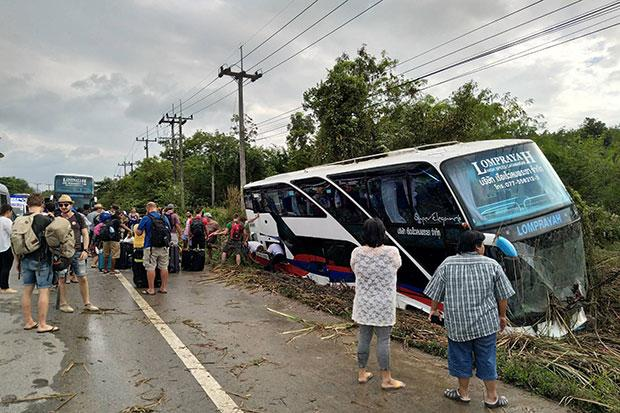 Diver that Crashed his Bus in Southern Thailand High on Methamphetamine's