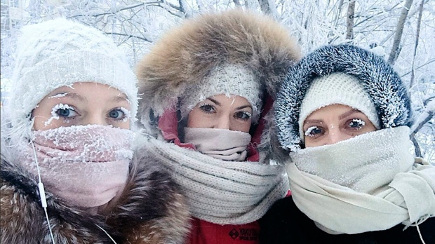 Even Eyelashes Freeze as Russia Sees Temperatures Hit Minus 67 C