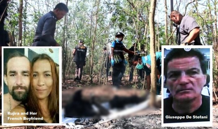 Thai Police Seek Arrest Warrant For Thai Wife and Farang Lover for Dismemberment and Burning of Italian Ex-Husband