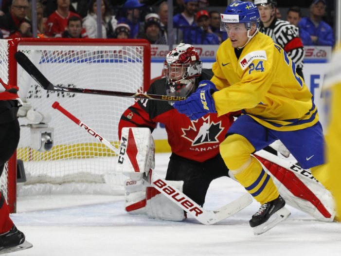 Sweden's Captain Tosses his Silver Medal into Crowd after to Losing to Canada at World Junior Hockey Championship
