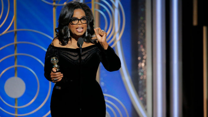 Oprah Winfrey Says 'Time is Up' for Abusive Men in Her 2018 Golden Globes Speech