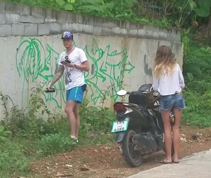 Photo's of Tourists Tagging a Wall Ko Lanta, Thailand Go Viral on Facebook
