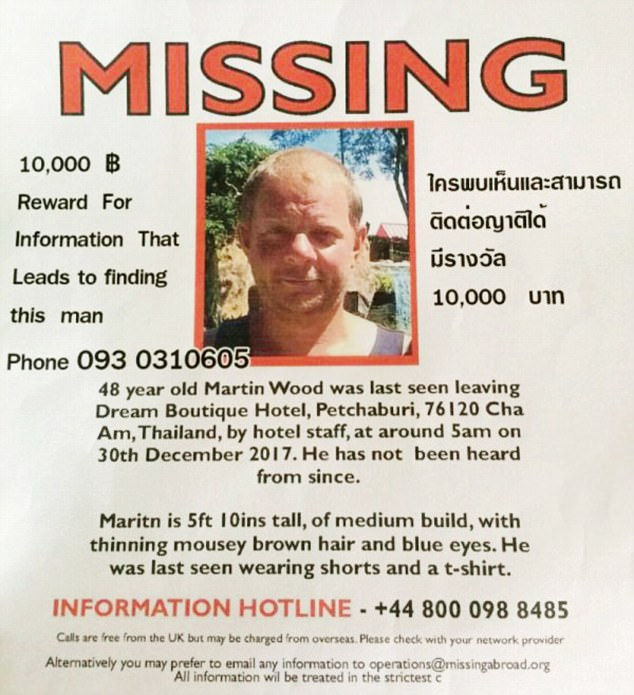 Police Find Unidentified Body in Phetchaburi, Possibly the Remains of Missing Briton Martin Wood