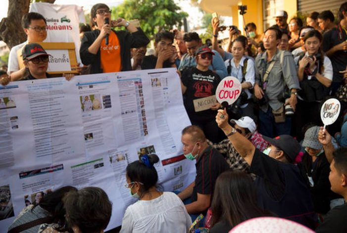 Thai Junta Files Charges Against 50 Pro Democracy Protesters