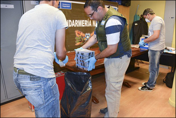 400kg of Cocaine Seized from Russian Embassy in Buenos Aires, Argentina