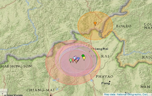 Chiang Rai Residents Experience Vibrations from Earthquake and Aftershocks in Myanmar
