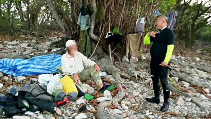 Missing 74-year Old British Tourist Found Camping on Uninhabited Island