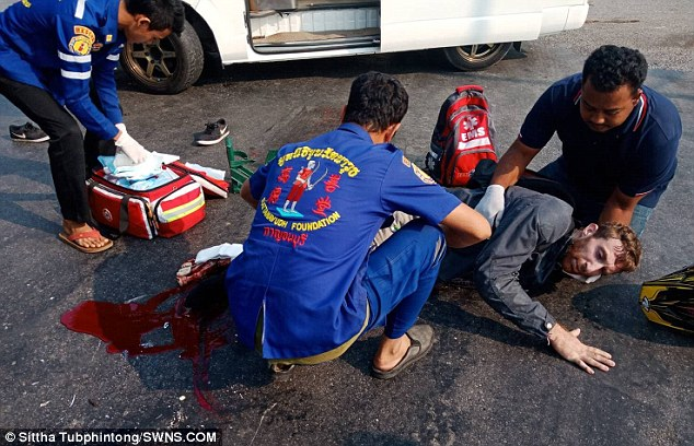British Man has Leg Amputated after Being Dragged Under Transport Truck in Central Thailand