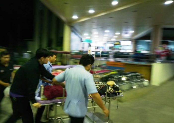 Nine Chinese Tourists Injured After Passenger Van Crashes into a 7-11 Store in Chiang Mai