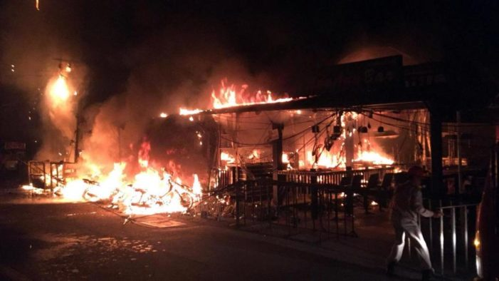 Two Tourists Injured after Fire Destroys Bars on Pattaya's Walking Street