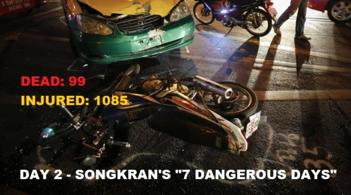 "Chiang Rai Takes Top Spot Again on Day 2 of ""Songkrans 7 Dangerous Days"""
