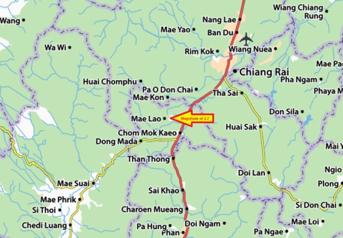Two Mild Earthquakes Felt in Mae Lao District of Chiang Rai
