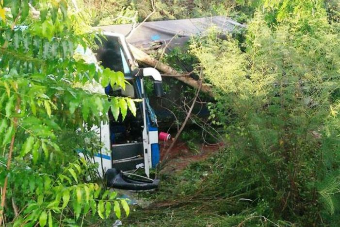 28 Injured after Passenger Bus Rams Into the Back of a Freight Truck in Central Thailand