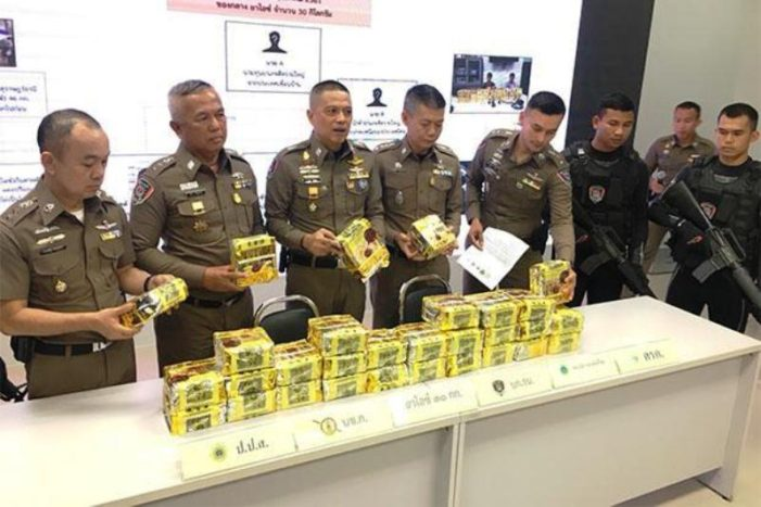 30 Kilograms of Crystal Meth Seized at Don Mueang Airport, Two Smugglers Arrested