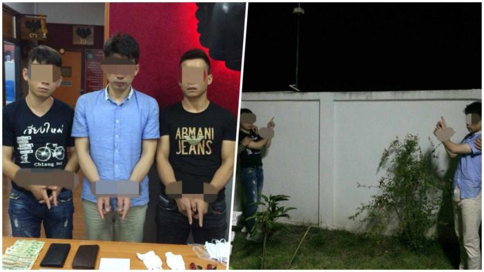 Three Chinese Nationals Arrested in Chiang Mai for Burglary