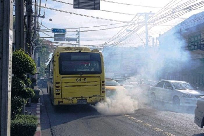 Drivers Fined for Emitting High-Level of Emissions in Northern Thailand