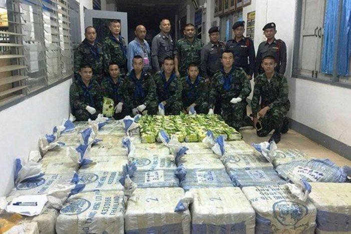 Soldiers Seize Massive Haul of Drugs in Chiang Rai's  Wiang Chiang Rung District