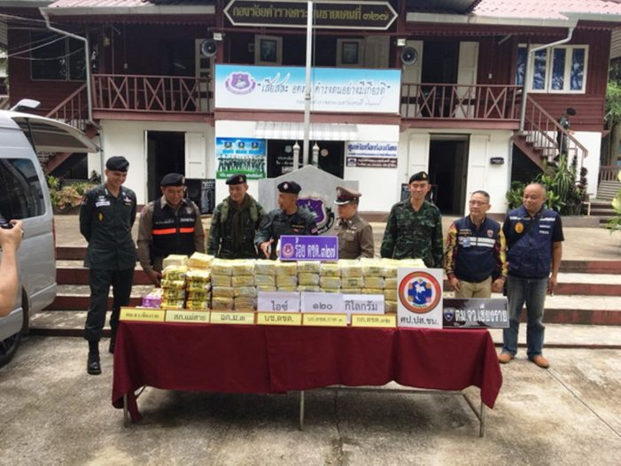 Mae Sai Border Patrol Officers Find 120Kg of Crystal Meth Hidden in Secret Compartment of Toyota Mini Van