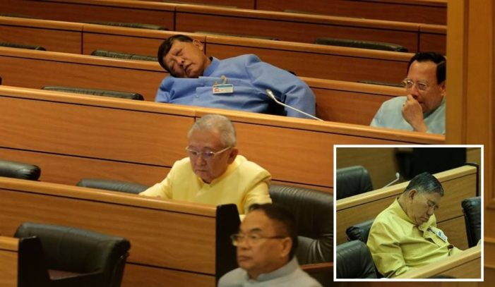 "Thai Junta Members ""Caught Napping"" During National Budget Discussions"