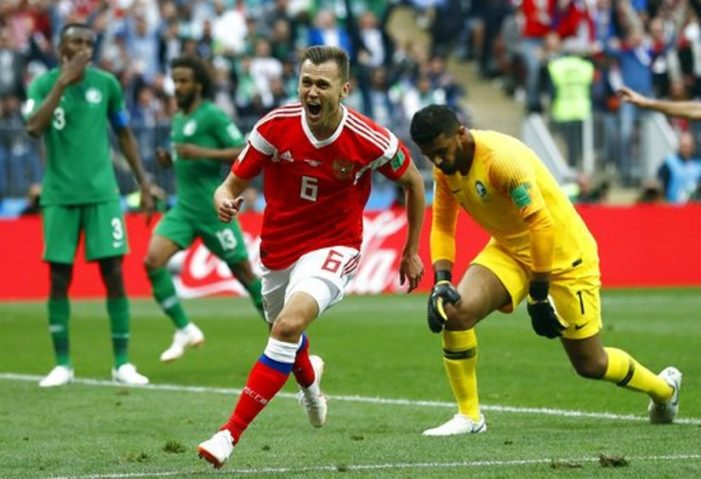 Russia Opens 2018 World Cup with a Huge 5-0 Win Over Saudi Arabia