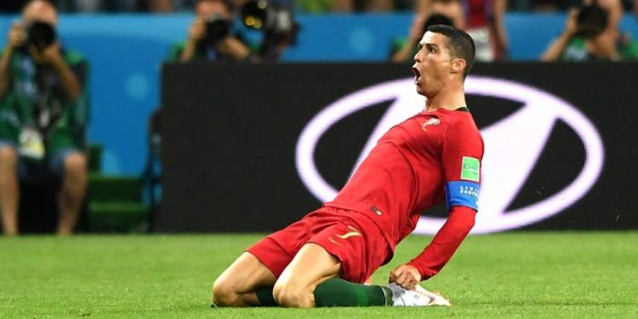 Cristiano Ronaldo Scores Three Goals Helping Portugal to a 3-3 Draw with Spain in World Cup