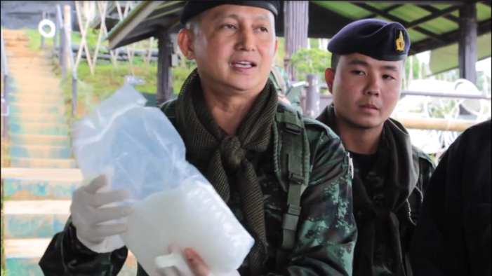 Chiang Rai Drug Enforcement Officers Recover 30 Bt Million Crystal Meth, Abandoned by Fleeing Drug Runners