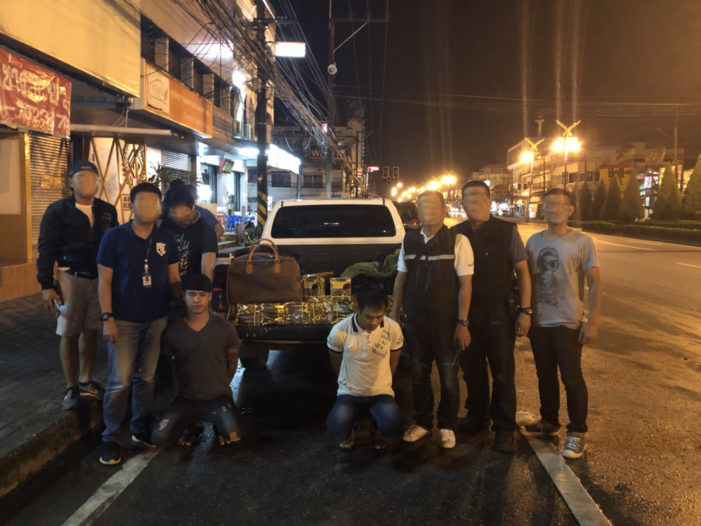Undercover Police in Chiang Rai's Mae Sai District Arrest Two Myanmar Men in a Sting Operation that Nets 30Kg of Crystal Meth