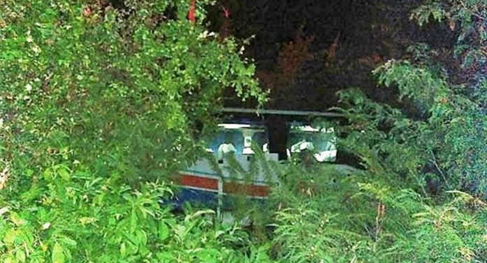 Inter-Provincial Bus Crashes into Ditch Injuring 10 Passengers in Northeastern Thailand