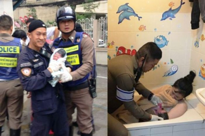 Thai Police Captain Helps Deliver Baby in Bangkok, the 33rd Child Born with his Assistance