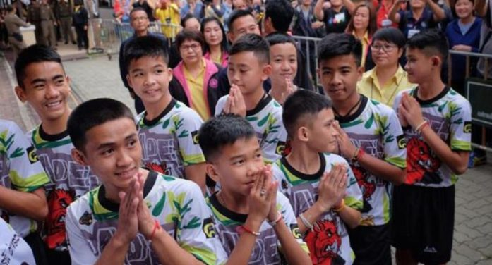 Thai and Foreign Media Warned Off 12 Wild Boars Young Footballers, Fine or Jail Time