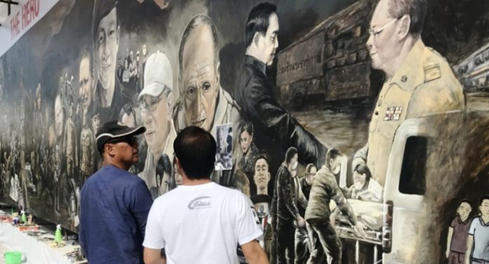 Huge Painting, Museum to Tell Story of Tham Luang Cave Rescue Underway