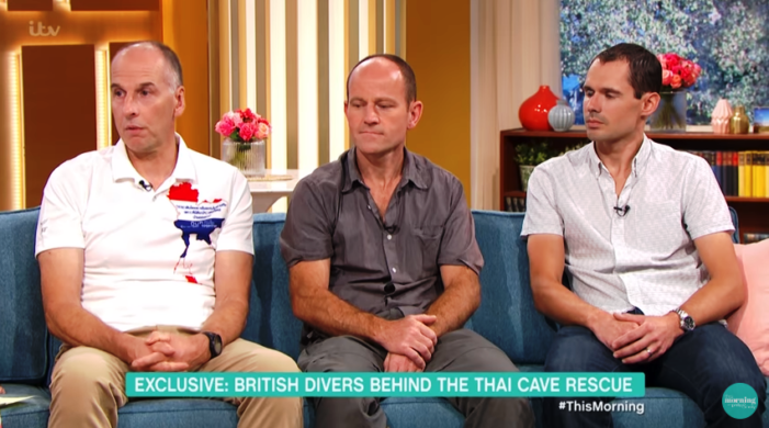 {VIDEO} – British Divers Discuss Harrowing Tham Luang Rescue Mission