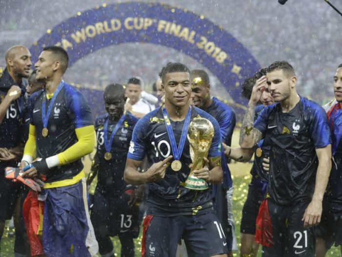 France Defeats Croatia 4-2  to Win World Cup Final