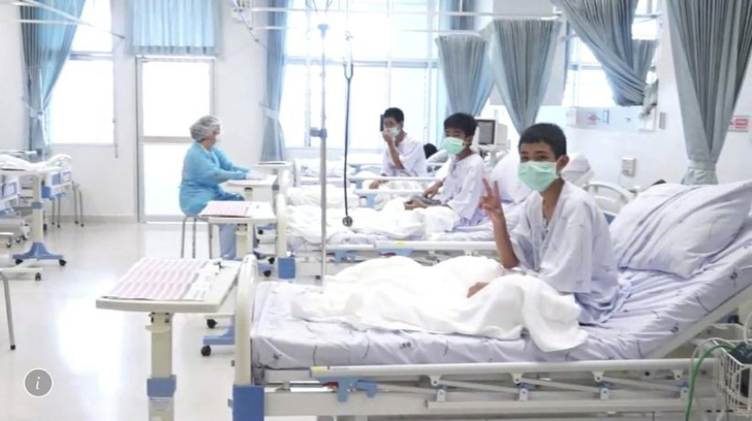 Chiang Rai's Prachanukroh Hospital Reports 12 Boys and Coach Doing Well