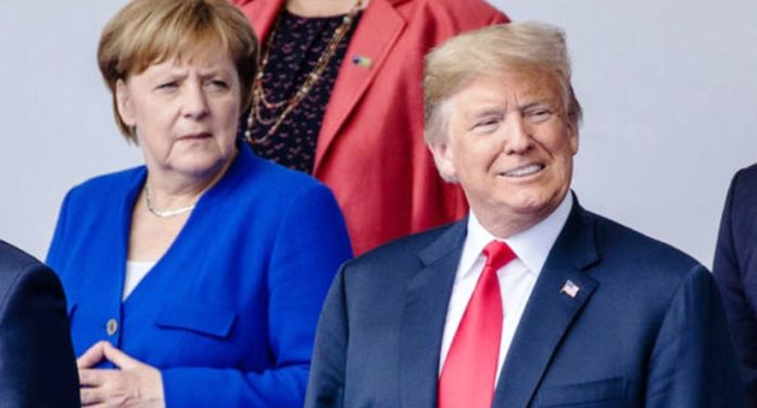 Angela Merkel Poised to Cave in after President Trump's Calls for Germany to Boost NATO Spending