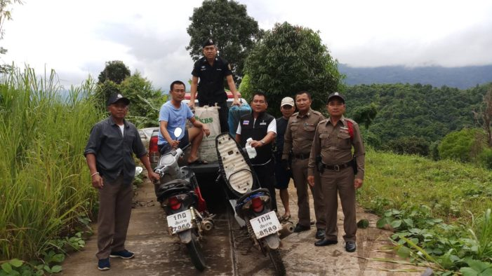 Smugglers Abandon Drugs and Flee into Forest after Spotting Military Patrol in Mae Fa Luang District