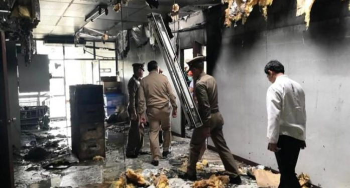 Phayao's New Governor Leads Inspection after Suspicious Fire at Phayao Hospital