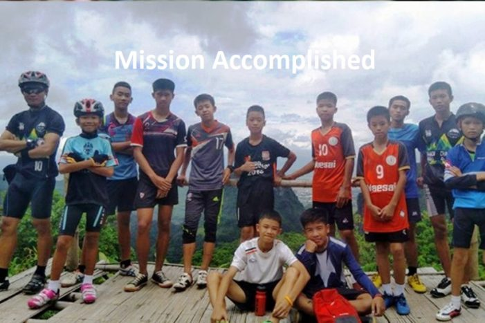 The Five Remaining Boys Removed Safely from Tham Luang Cave