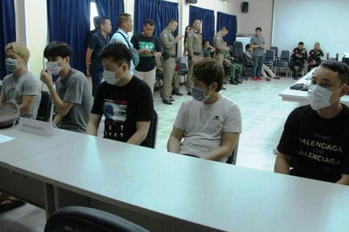 Five South Koreans Busted for Running Online Gambling Scam in Central Thailand