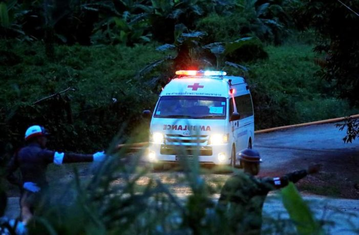 Four More Boys Extracted from Tham Luang Cave Bringing Total Number Rescued to Eight.