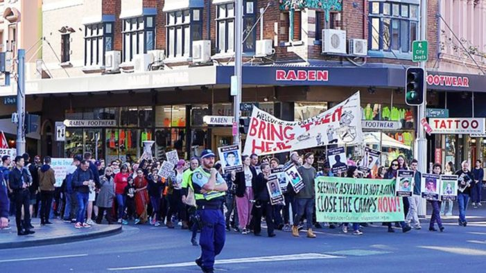 Thousand's of Libertarians March in Protest Against Australia's Refugee Detention Policy