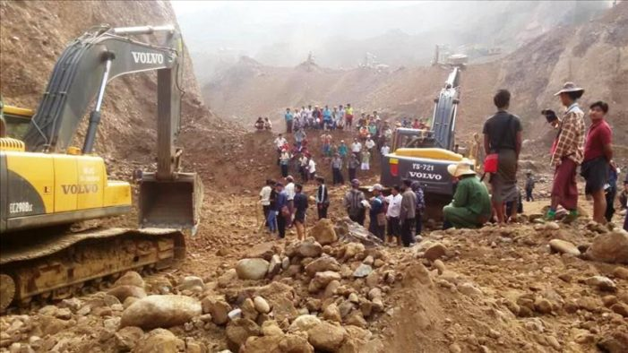 Myanmar Claws Through Rubble for 27 Buried in Jade Mine Landslide
