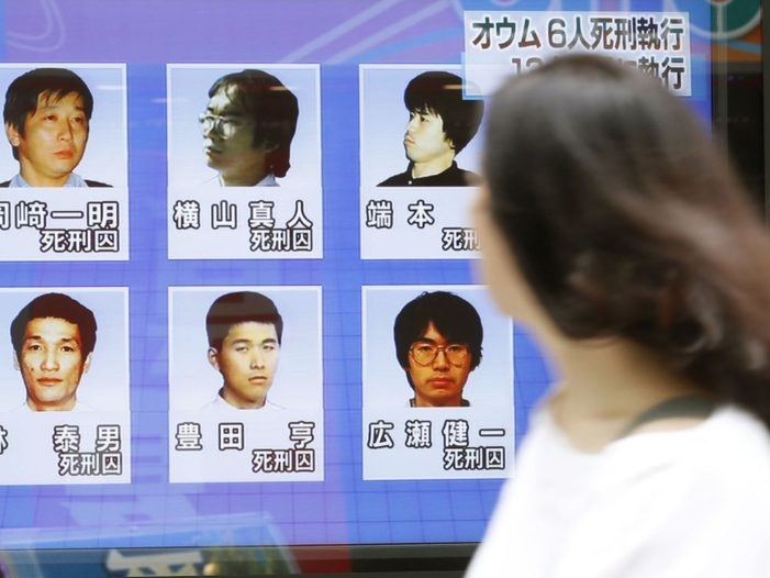 Japan Executes Six More Members of Religious Cult Behind Deadly Sarin Gas Attack
