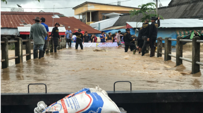 Mae Sai Market Area Floods Once Again after Heavy Rains