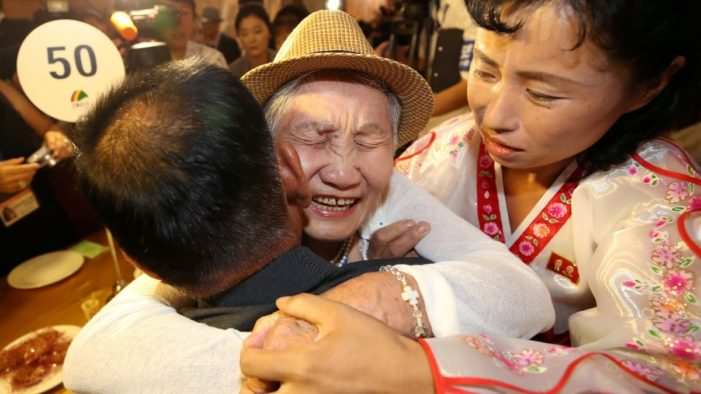 North and South Korean Families Separated by War Meet after 65 Years