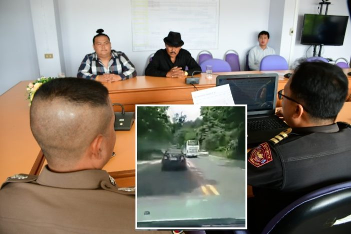 Bus Driver Fined after Being Captured on Video Dangerously Overtaking Traffic on Chiang Rai-Chiang Mai Highway