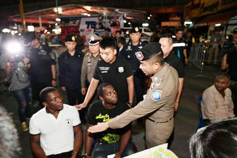 Thai Authorities Arrest Sixty Two Foreigners in Country Wide Immigration Sweep