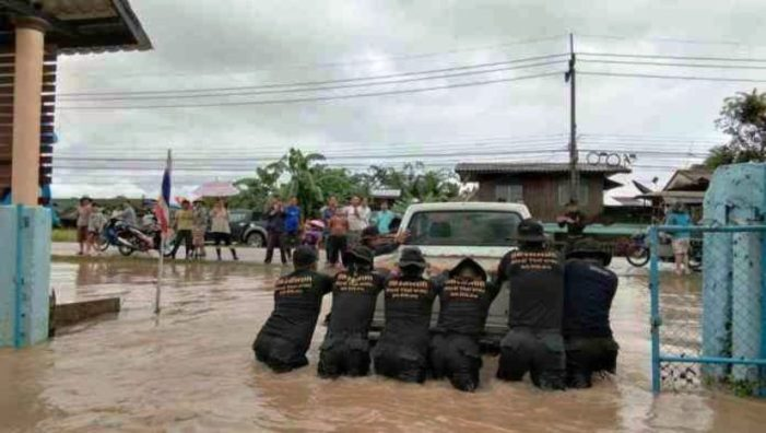 Torrential Rains Causes Flooding and Road Damage in Chiang Khong District