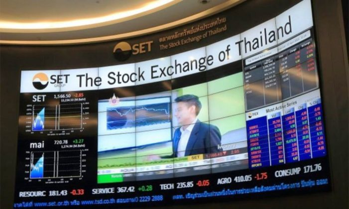 The Stock Exchange of Thailand (SET) Down 19.06 Points or 1.12%