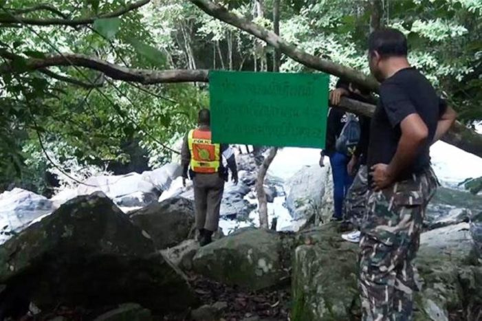 Body of Half Naked Tourist Found at Popular Waterfall in Southern Thailand